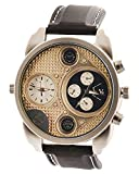 Shvas Analogue Gold Dial Dual Time Zone ...