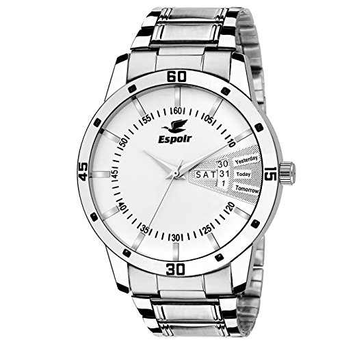 Espoir Analog White Day and Date Dial Men's Watch 2039-WH