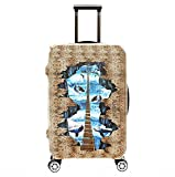 SINOKAL Gepäckraumabdeckung Protektor Kofferschutzhüllen Elastische 18-20 Zoll 22-24 Zoll 26-28 Zoll 30-32 Zoll Koffer Abdeckung (Koffer nicht im Lieferumfang enthalten)