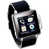 Housse Téléphone Portable Bracelet de Montre avec Touch avec horloge et lecteur multimédia + Radio + + Bluetooth
