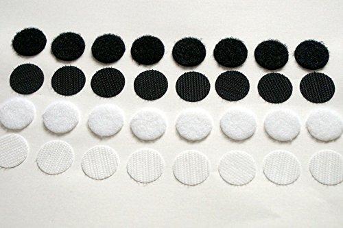 100-stuck-klett-klebe-punkte-je-50-haken-und-50-flausch-35-mm-schwarz-velcro