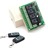 Hwmate DC 12V sans fil RF Remote Control commutateur Relais 1récepteur et 2émetteurs 4canaux 433MHz