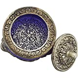 Zap Impex® Bandeja para servir de metal blanco Carving Cristal Carcasa Azul Color, frutas, Secar Hummer Tazones (L x B x H): 8,5x 8x 6,5cm