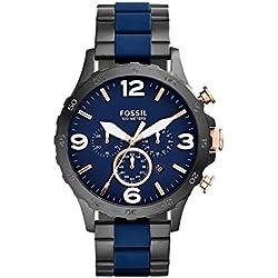 Fossil Nate Analog Blue Dial Men's Watch - JR1494