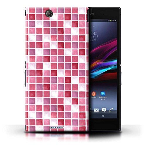 Kobalt® Imprimé Etui / Coque pour Sony Xperia Z Ultra / Rouge conception / Série Carreau Bain Rouge/Rose