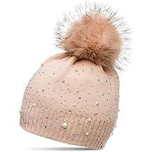 Suchergebnis auf für: muetze mit fellbommel rosa