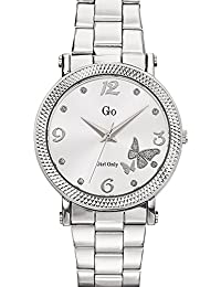 Go Girl Only Damen-Armbanduhr 694760–Quarz–Analog Zifferblatt Silber Armband Stahl Silber