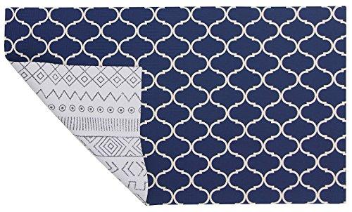 Doux Tapis Moderne réversible – Boho Bleu