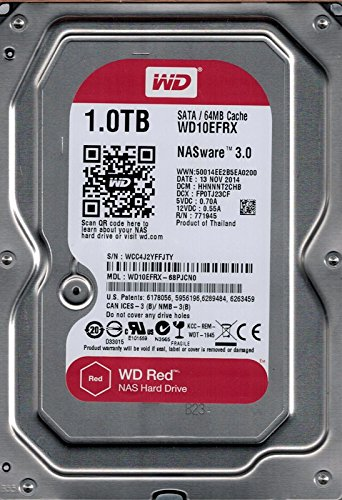 Wd Red Intellipower HDD Interno, 1TB, Sata 6Gb/S 64Mb, Grigio
