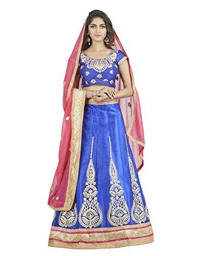 Oomph! Women's Net Bridal Lehenga Choli/Semi Stitched Lehenga Party Wear/Ghagra Choli Weddings,...