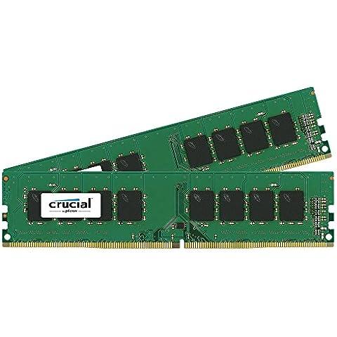 Crucial - Memoria RAM de 32 GB (16 GB x 2, DDR4, 2133 MHz)