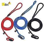 Cdet 3X Correa de ajustable cuerda slip nylon para perro cachorro perro mascota adiestramiento pet dog leash 1.3m