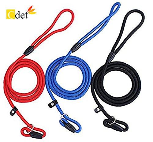 Cdet 3X Correa Ajustable Cuerda Slip Nylon Perro Cachorro