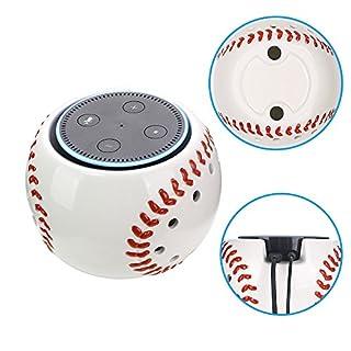 Amazon Echo Dot Halterung Basketball/Football/Baseball Wandhalterung Deckenhalterung Schutzhülle Lautsprecher Ständer für Amazon Echo Dot 2. und 1. Generation Alexa Schutzzubehör Tischhalter Stand für erhöhte Stabilität (Baseball)