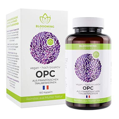 OPC TRAUBENKERNEXTRAKT hochdosiert - OPC höchster Güte, nativ & vegan aus französischen Wein-Trauben - frei von Zusatzstoffen - hergestellt in Deutschland - 180 Kapseln -