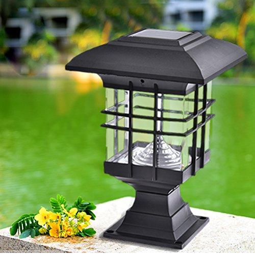 Imprägniern Sie LED-Sonnenkollektorlampen Pfosten geführte Solarleuchten der Wandleuchte im Freien dekorative Gartenleuchten der dekorativen ()