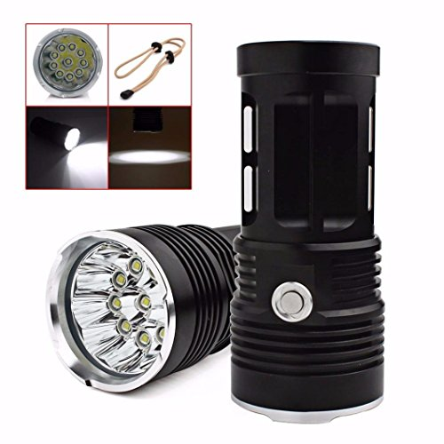 Amlaiworld 28000LM LED Caza Linterna antorcha lámpara 4x18650