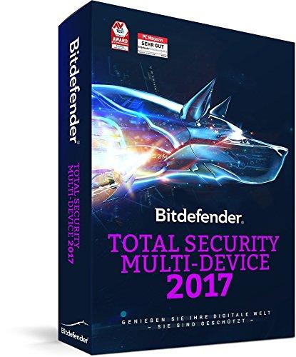 Produktbild Bitdefender Total Security Multi Device 2017 – 10 Geräte / 1 Jahr / 365 Tage (MAC,  Windows & Android) - Aktivierungscode (bumps)