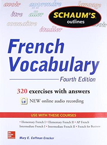 Schaum's Outline of French Vocabulary (Schaum's Outlines) Speaker-schaum