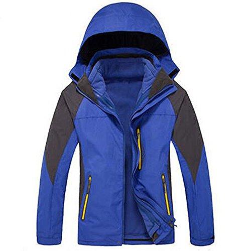 ELEAR® Uomini / Donne in pile sportivo outdoor impermeabile Windbreaker Jacket Athletic antivento Warm Arrampicata cappotto escursionismo Giacca esterna maschi Blu