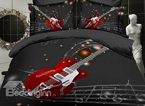 Fashion Guitarra impresión pentagramas 4piezas