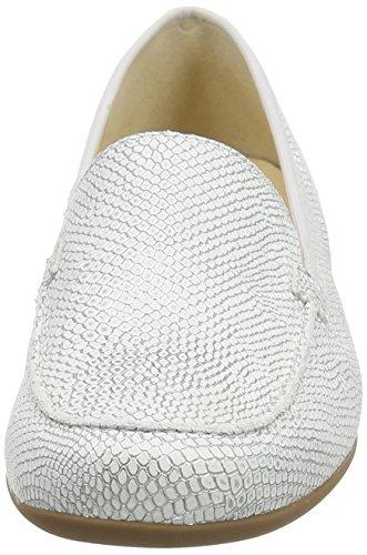 Hassia Petra, Weite G, Mocassins femme Blanc - Weiß (0400 offwhite)