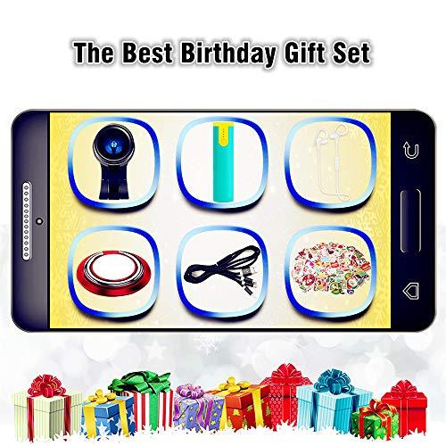 AhaSky Elektronisches Zubehör-Geschenkset mit Bluetooth Kopfhörer, Power Bank, Multi USB Kabel, Weihnachten Aufkleber, Weitwinkelobjektive, Grußkarte Geburtstag/Neujahr Geschenk