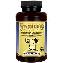 Swanson Ultra - Ácido Caprílico 600mg, 60 Cápsulas (Caprylic Acid Softgels Capsules)