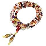 Pulsera de Perlas de Cristal Natural Abrazaleta de Perlas Coloridas 5 mm 108 piezas