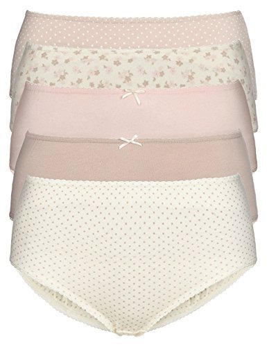 fa-m-ous-store-ladies-womens-3-pack-midi-briefs-knickers-colour-choices-14-pink-daisy-print-4711-ll-