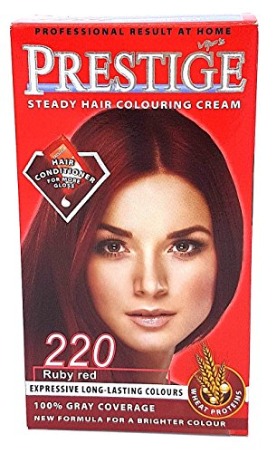 Vips Prestige tintura per capelli permanente con olio di argan, macadamia e chia 220 Rubino rosso