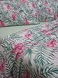 Pago Poco 'Neuheit. Bettwäsche aus Reiner Baumwolle Natur 100% Flamingo Grün für Einzelbett