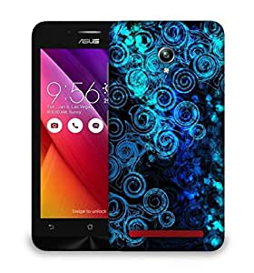 Snoogg Abstract Blue Patterned Designer Protective Phone Back Case Cover For Asus Zenfone GO
