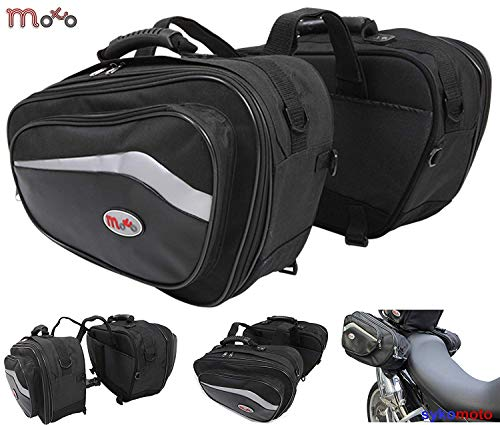 RS MOTO Alforjas de Almacenamiento para Motocicleta, Deportivas, 44 L a 60 L