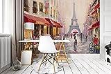 DekoShop Fototapete Vlies Tapete Moderne Wanddeko Wandtapete Paris AMD11512V4 V4 (254cm. x 184cm.)