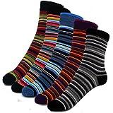 4 Paar Baumwolle Socken - Damensocken mit Piquetrand - Freizeitsocken im modernen Farben