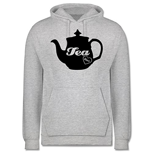 Statement Shirts - Tea-Shirt - Männer Premium Kapuzenpullover / Hoodie Grau Meliert