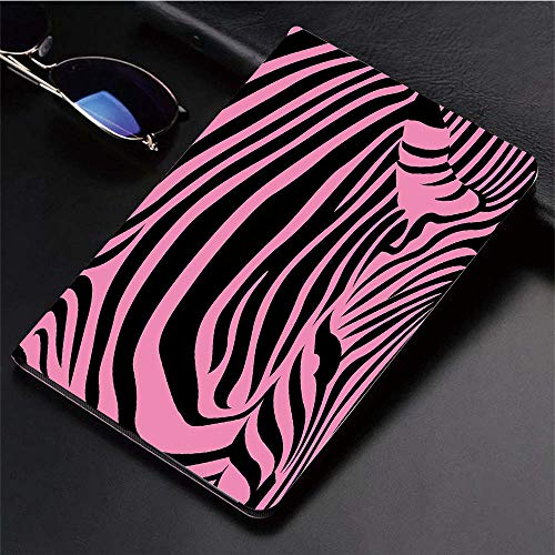 Yaoni Hülle für iPad (9,7 Zoll, Modell 2018/2017, 6. / 5. Generation),Pink Zebra, Lebendiger Hintergrund Zebra Haut Kü,Ultra Slim Cover Schutzhülle PU Lederhülle/mit Auto Sleep Wake Up Funktion Pink Zebra Haut