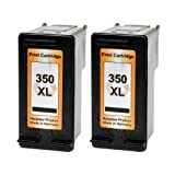 2 Logic-Seek Tintenpatronen kompatibel zu HP 350XL - 2x Schwarz
