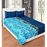 S M Web India Beautiful A Double Bedsheet With Two Pillow Covers 3D Printed