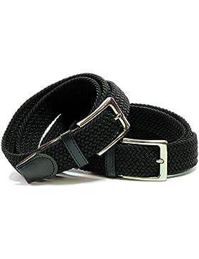 Cinturón cómodo con tejido elástico. hebilla de níquel. El cinturón de tela elástica es adecuado para todo el...