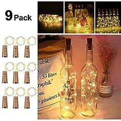 9x 20 LED Flaschen Licht...