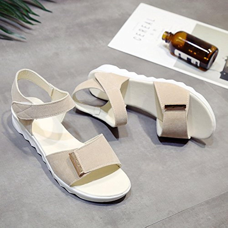 LGK & Fa verano de las mujeres sandalias verano suave parte inferior plana sandalias sandalias all-match embarazadas... -