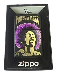 Zippo Custom Lighter - Jimi Hendrix Rock Star Purple Haze Black Matte