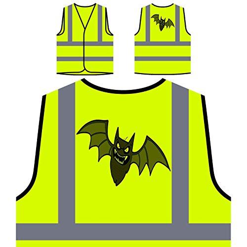 e Fledermaus Personalisierte High Visibility Gelbe Sicherheitsjacke Weste q728v ()