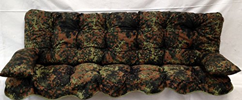 Polsterauflage, nato-oliv Hollywoodschaukel, Auflage, Hollywood, Sitzauflage, Gartenschaukelauflage