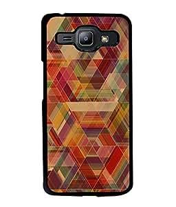 FUSON Designer Back Case Cover for Samsung Galaxy J1 (2015) :: Samsung Galaxy J1 4G (2015) :: Samsung Galaxy J1 4G Duos :: Samsung Galaxy J1 J100F J100Fn J100H J100H/Dd J100H/Ds J100M J100Mu (Geometric Watercolour Art Print Pink Bright)