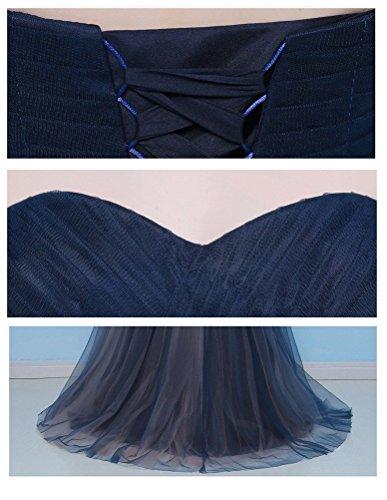 ShiYuan - Robe - Femme Bleu - Bleu marine
