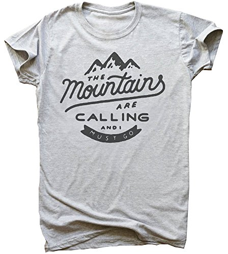 The Mountains Are Calling And I Must Go Herren Men's T-Shirt Medium