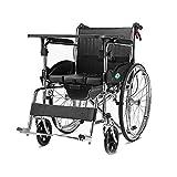 Ultraleichter Premium-Rollstuhl Mit Bidirektionalem Vierbremsgriff, Umklappbaren Schreibtischarmen Und Ansteigenden Beinstützen Für Zusätzlichen Komfort, Schwarz, 20-Zoll-Sitz